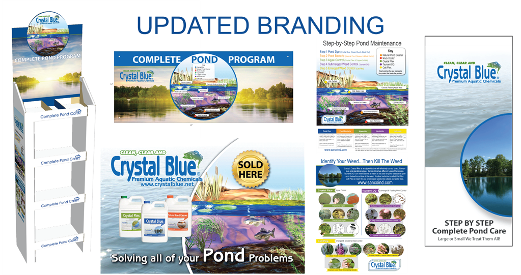 New Crystal Blue Branding