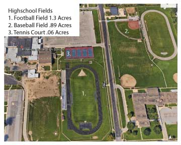 Birds Eye View Football Field